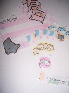 Pig & Cat Mini memos  2 designs, 4 of each