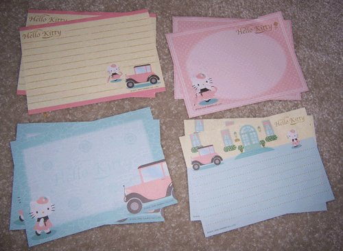 French Hello Kitty memos