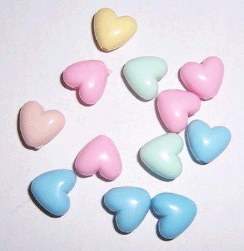 Pastel Heart Beads