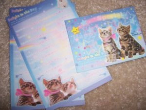 Delight in the Day Kittens Mini Letter Set