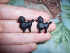 Black Poodle Earrings