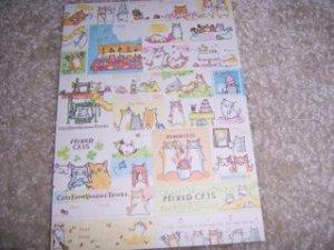 Mixed Cats Sticker Sheet