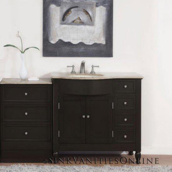 58 Kelston Bathroom Off Center Vanity Left Sink 0902