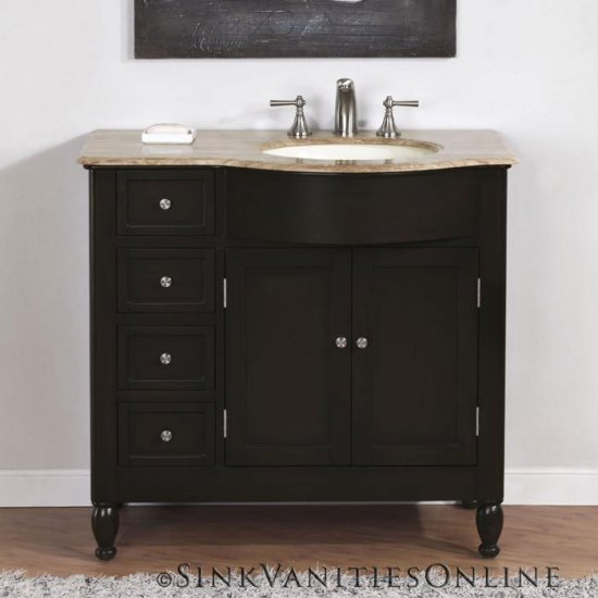 off center sink bathroom vanity 38 quot kelston bathroom vanity center right sink 0902 23873