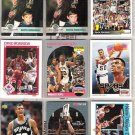 DAVID ROBINSON (9) Card Early 90's Lot w/ RC + Ins.