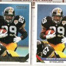 BARRY FOSTER 1993 Topps Gold Insert w/ sister - Sharp