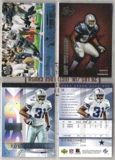 (4)  ROY WILLIAMS Premium Cards w/ 2003 Playoff Hogg Heaven+++