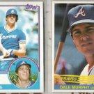(2) DALE MURPHY 1983 Topps + 1984 Donruss - BRAVES