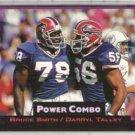 BRUCE SMITH 1993 Power Combo Insert #5 w/ TALLEY.  BILLS