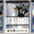 BRIAN URLACHER 2004 Upper Deck SPX (3) Card Lot - Bears