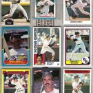 DWIGHT EVANS (9) Card Lot w/ 1980s, 90 Leaf - 1982 - 92
