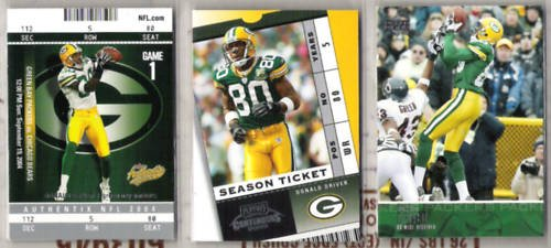 DONALD DRIVER (3) Card Premium Lot - 2003 + 2004
