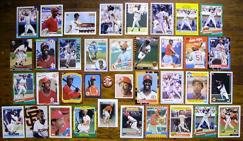 WILLIE McGEE (37) Card Lot w/ many odds (Pin) + 80's