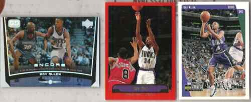 RAY ALLEN (3) Card Lot w/ 1997 UD CC, 98 UD Encore SE+