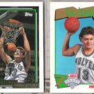 LUC LONGLEY (2) Cards - 1992 Topps GOLD + 1991 Hoops DP