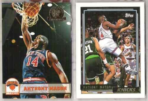 ANTHONY MASON (2) Gold Cards - 1992 Topps, 1993 Hoops