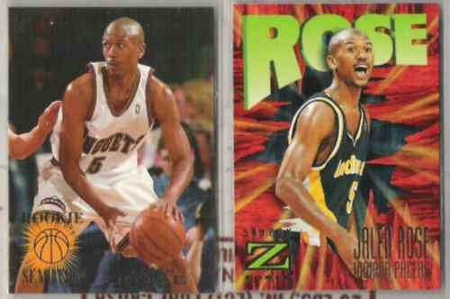 JALEN ROSE (2) Card Lot w/ 1995 Fleer Rookie Sensation+