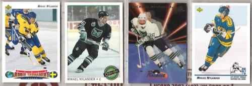 MIKAEL NYLANDER (4) Lot w/ 1993 Ultra Prospects Insert+
