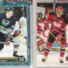CHRIS PRONGER (4) Lot w/ 1992 Upper Deck Sweden++