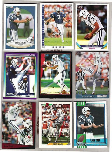 ROHN STARK (9) Card Lot w/ Men of Autumn Ins, 92 Bowman