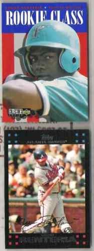 EDGAR RENTERIA (2) Cards -1996 UD CC RC #446 + 07 Topps