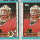 DARREN PANG (2) 1989 Topps Card Lot #31. HAWKS