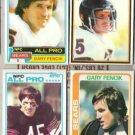 GARY FENCIK (4) Card 1978 - 1982 Lot: BEARS - Sharp