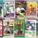 (10) JOE CARTER MLB Card Lot w/ 1987 Fleer, 89 Topps+++