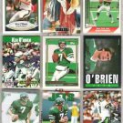 (9) KEN O'BRIEN Cards w/ 1985 Topps, 92 GOLD, Stacey++