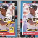 BARRY BONDS 1988 Leaf #113 + Donruss #326.  PIRATES