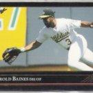 HAROLD BAINES 1992 Leaf Black GOLD Insert #126.  A's