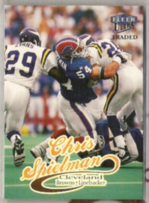 CHRIS SPIELMAN 1999 Fleer Ultra Traded #24.  BILLS