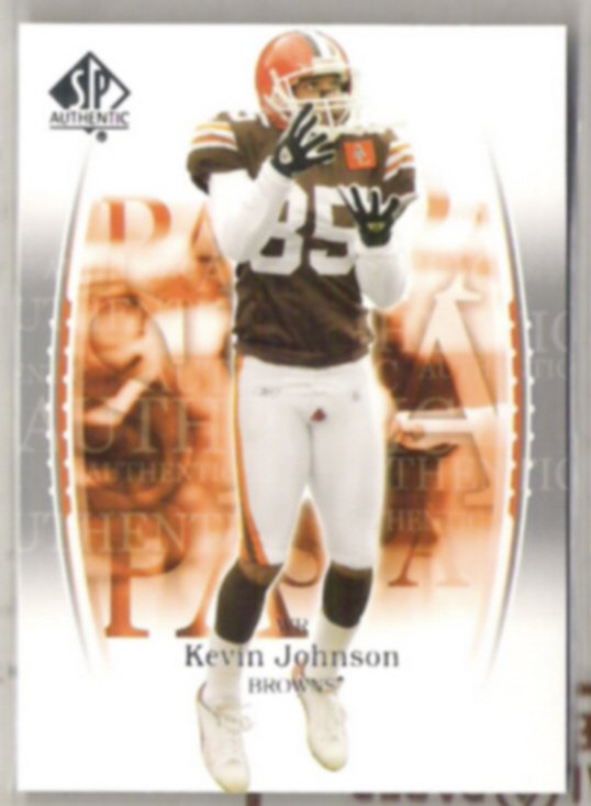 KEVIN JOHNSON 2003 UD SP Authentic #76.  BROWNS