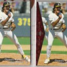 DENNIS ECKERSLEY (2) Cards:  1995 UD SP #'187 Silver + Red