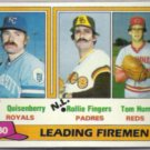 ROLLIE FINGERS 1981 Topps Leaders #8.  PADRES