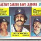 ROLLIE FINGERS 1984 Topps Leaders #718.