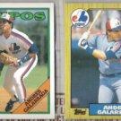 ANDRES GALARRAGA 1987 + 1988 Topps.  EXPOS