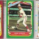 OZZIE GUILLEN 1986, 87 + 88 Fleer Star Stickers.  WHITE SOX
