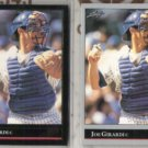 JOE GIRARDI 1992 Leaf Black GOLD Insert w/ sister.  CUBS