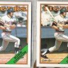 KIRK GIBSON 1988 Topps + O-Pee-Chee.  TIGERS