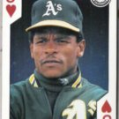 RICKEY HENDERSON 1991 US Playing Card Co. J-Hearts.  A's