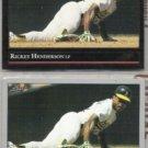 RICKEY HENDERSON 1992 Leaf Black GOLD Insert w/ sister. A's