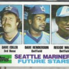 DAVE HENDERSON 1982 Topps Future Stars #711.  MARINERS