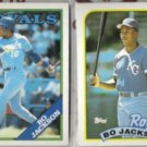 BO JACKSON 1988 + 1989 Topps.  ROYALS
