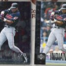 DAVE JUSTICE 1998 UD Special Edition Insert + sister.  INDIANS