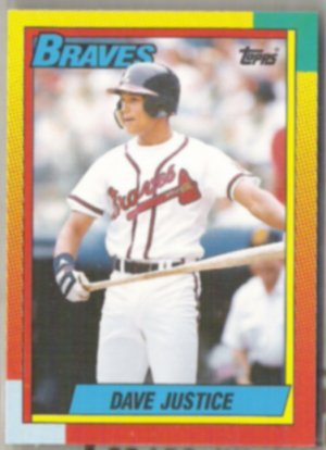 DAVE JUSTICE 1990 Topps Traded #48T.  BRAVES