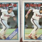 WALLY JOYNER 1988 Topps + 1988 OPC.   ANGELS