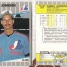 RANDY JOHNSON (2) 1989 Fleer #381.  EXPOS