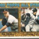 JIMMY KEY 1994 Topps Gold Insert #393 w/ Glavine.  YANKEES