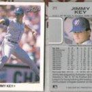 JIMMY KEY (2) 1990 Leaf #211.  BLUE JAYS